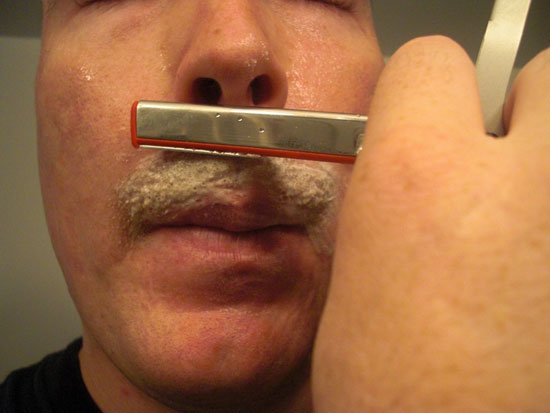 Shaving upper lip