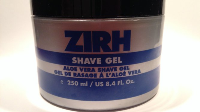 A picture of a container of Zirh shave gel