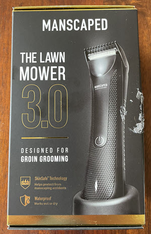 A picture of the front of the Manscaped The Lawn Mower 3.0 box